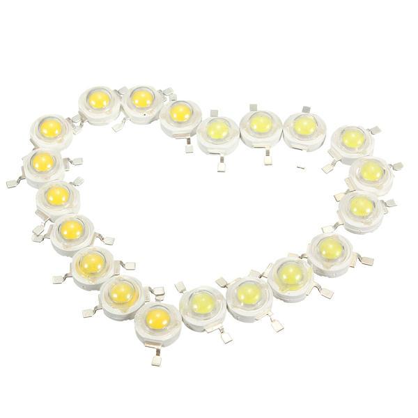 10 pcs 3W LED Bulb Chip Chips 200-230Lm Putih / Warm White Beads