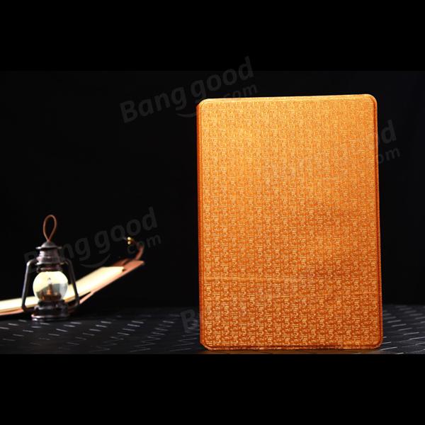 Slim Folio Book Style Maze Grain Stand Lærveske For iPad Air 2