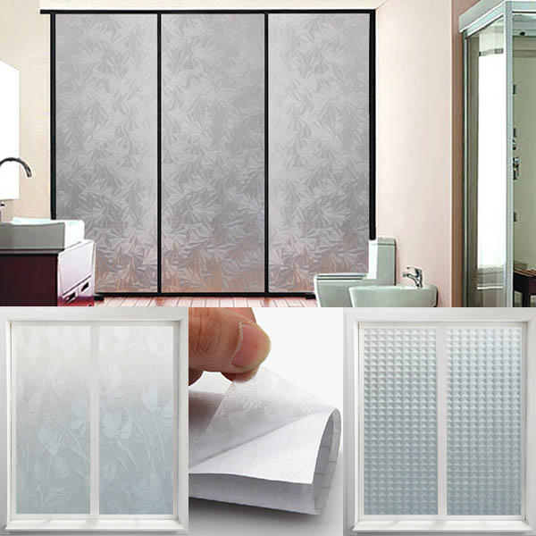200x45cm Scalable Printed Frosted Window Stickers Non-transparent