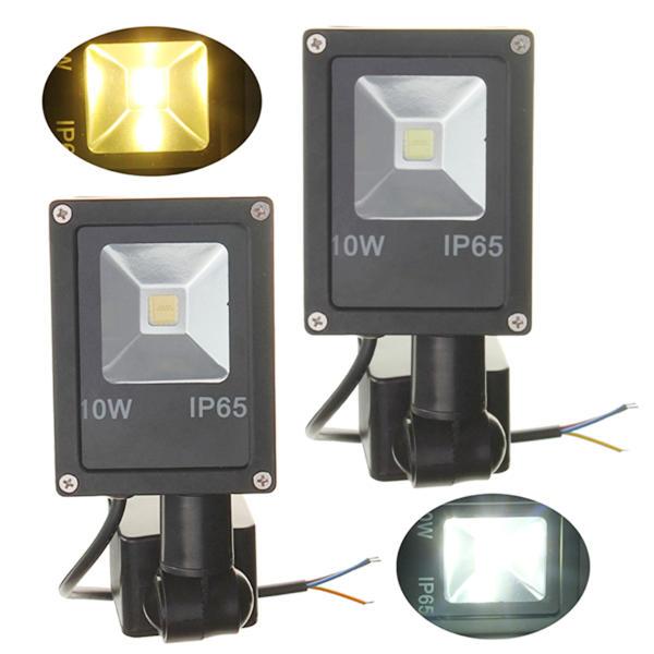 12v 10w Pir Motion Sensor Led Flood Light Ip65 Warm Cold White Light Sale Banggood Com