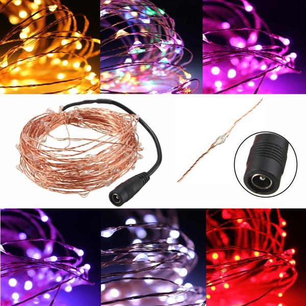 10M 100 LED Warm White String Fairy Light DC12V Waterproof Copper Wire Christmas