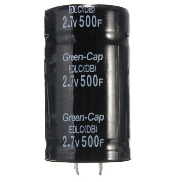 Black 2.7V 500F 35 x 60mm Super Farad Capacitor