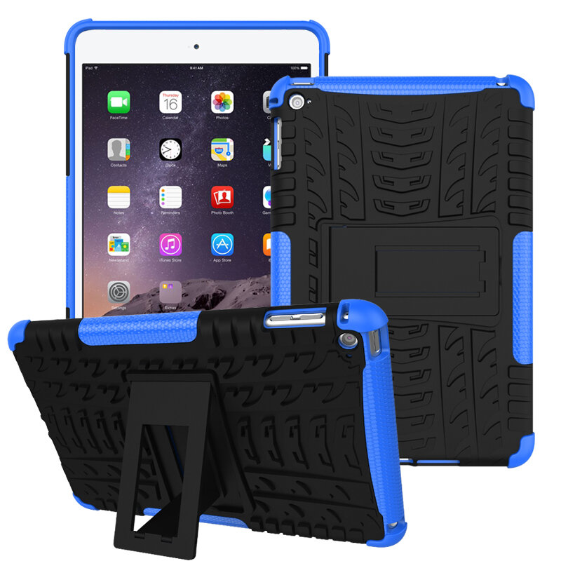 Heavy Duty Varme Dissipation Kickstand Textured Case For iPad Mini 4