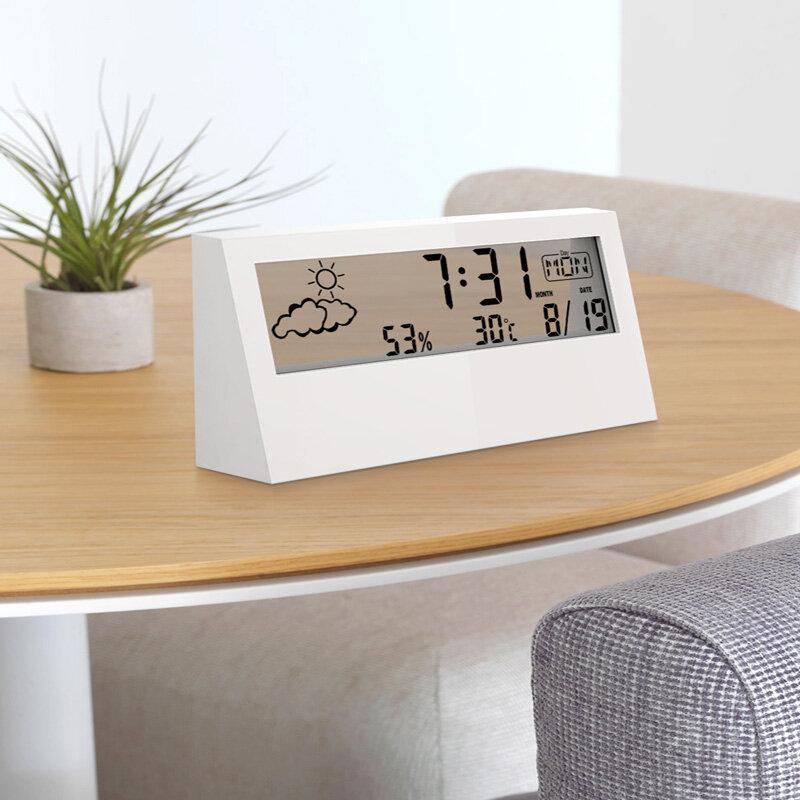 Digoo DG-AN0211 Transparent Screen Weather Station Alarm Clock Indoor Hygrometer Thermometer Weather Forecast Sensor Clo