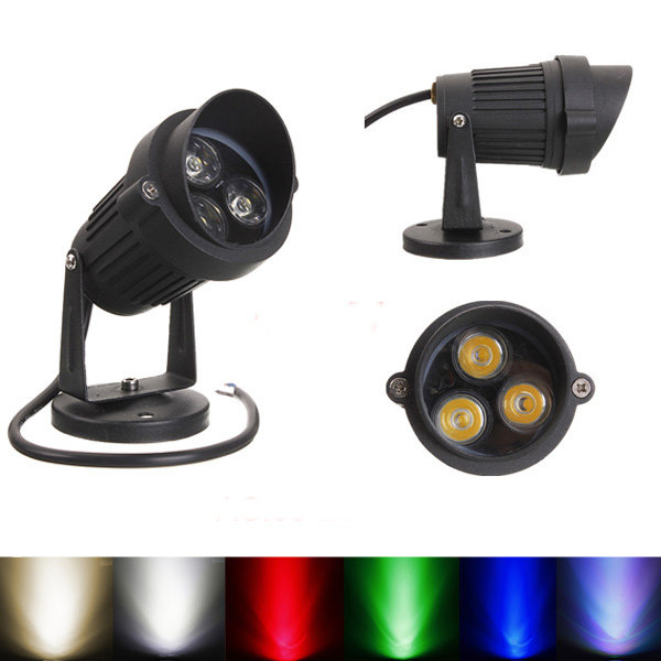 10W LED Flood Spot Lightt With Cap For Garden Yard Path IP65 AC 85-265V