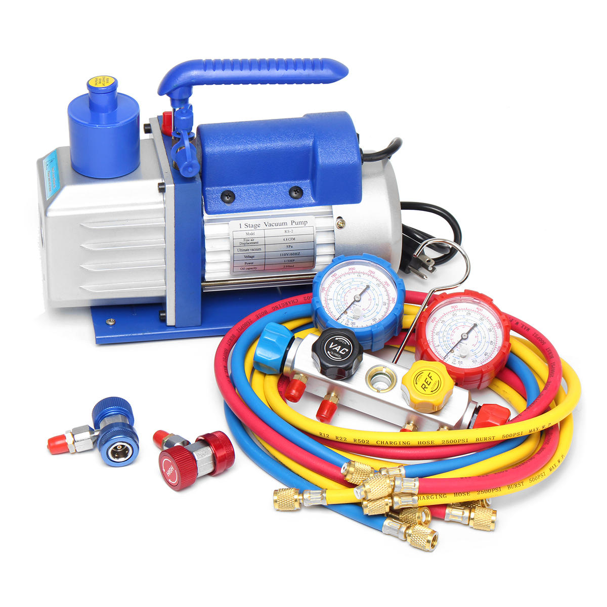 A//C Air Vacuum Pump with R134A and R12 Connectors Air Conditioning Pump
