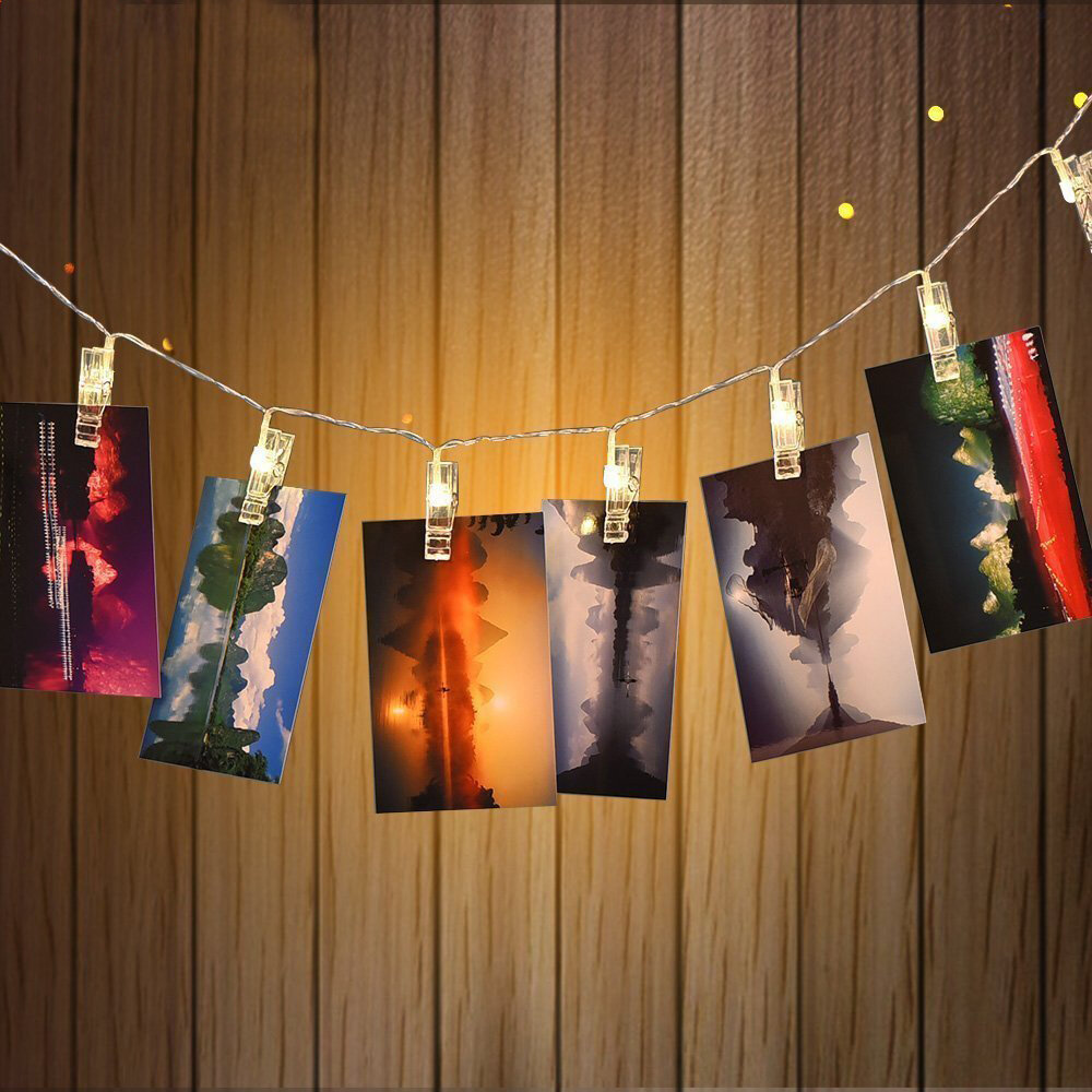 finest selection a558c 6b34a KCASA 1.5M 10 LED Photo Clip String Lights LED Fairy Lights for Festival  Christmas Party Wedding Decoration Battery Powered