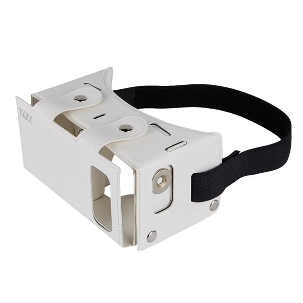 TOCHICレザー3D VRメガネバーチャルリアリティゲーム映画デバイス4.0インチ〜5.5インチのスマートフォン用