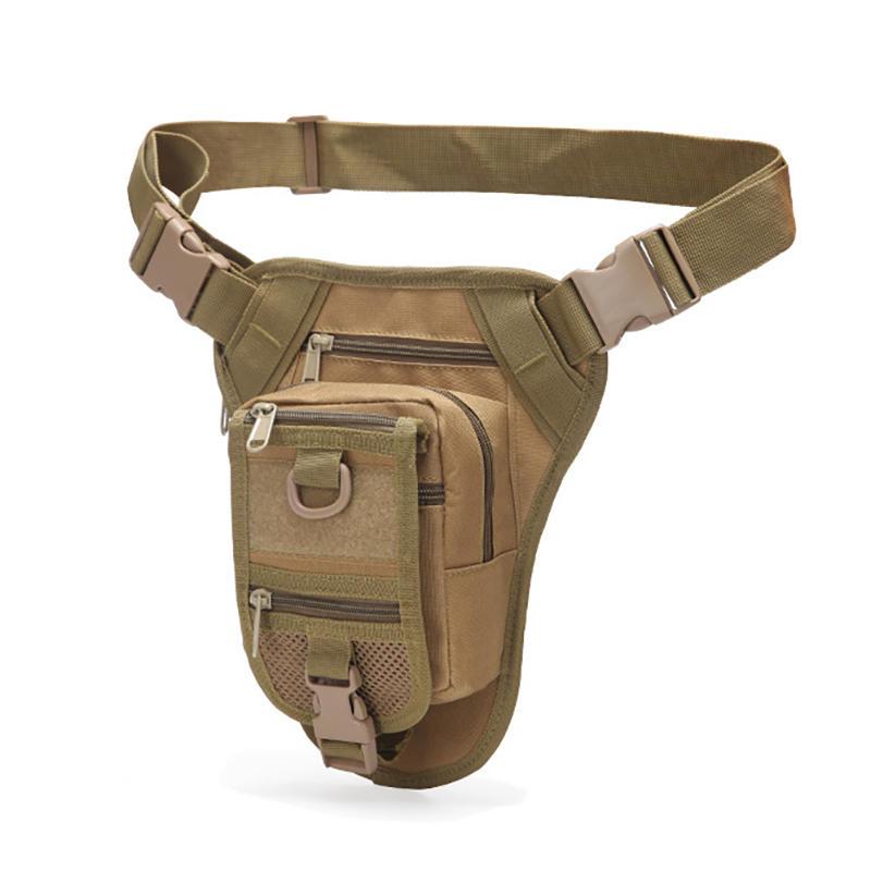 迷彩アウトドアポケット戦術的なレッグバッグ防水ライディング機能バッグ