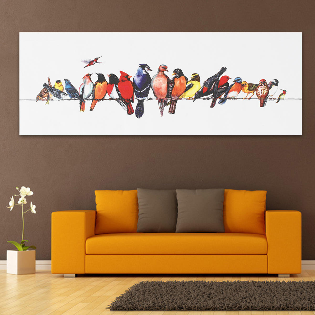 Colorful Birds Stretched Canvas Prints