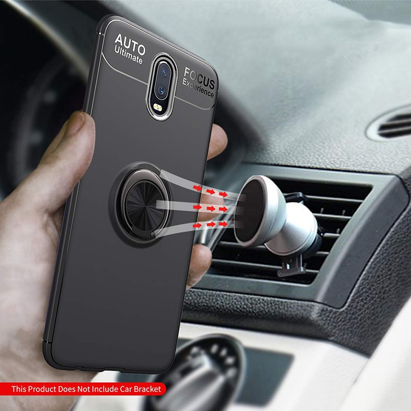 Bakeey 360° Rotating Ring Holder Magnetic Shockproof Soft TPU Protective Case for OnePlus 7
