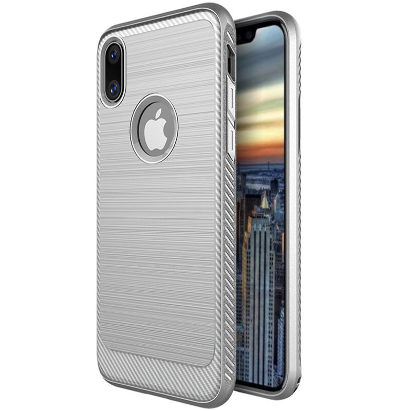 Brushed Finish Fingerprint Resistant TPU Veske For iPhone X