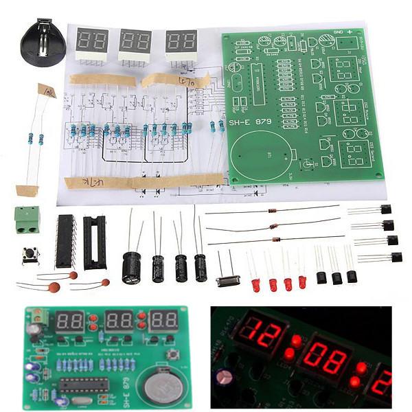 Arduino scm & diy 10Pcs DIY 6 Digital LED Electronic Clock Kit 9V-12V AT89C2051 фото