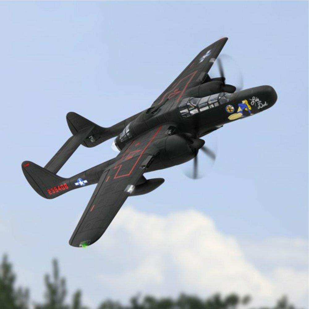 Dynam Northrop P-61 Black Widow 1500mm Wingspan Twin Engine EPO Warbird Fighter RC Airplane PNP