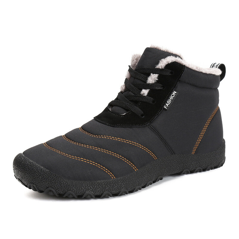 afd6a6590db P335 Outdoor Winter Sport Men Women Ankle Boots Lace-up Trekking Worker  Fleece Lined Shoes Sneakers
