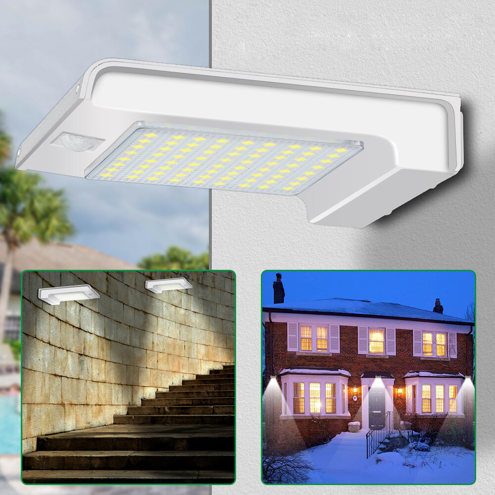 تعمل بالطاقة الشمسية 72 LED PIR Motion المستشعر Wall ضوء Outdoor Garden Security Lamp