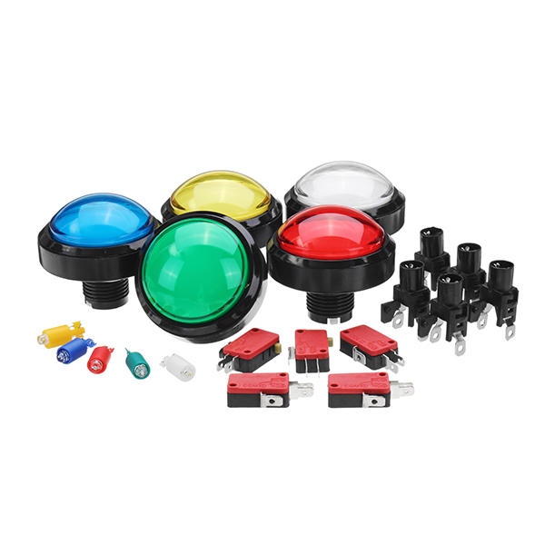 60MM 6CM Red Blue Yellow Green White Push LED Button for Arcade Game Console Controller DIY