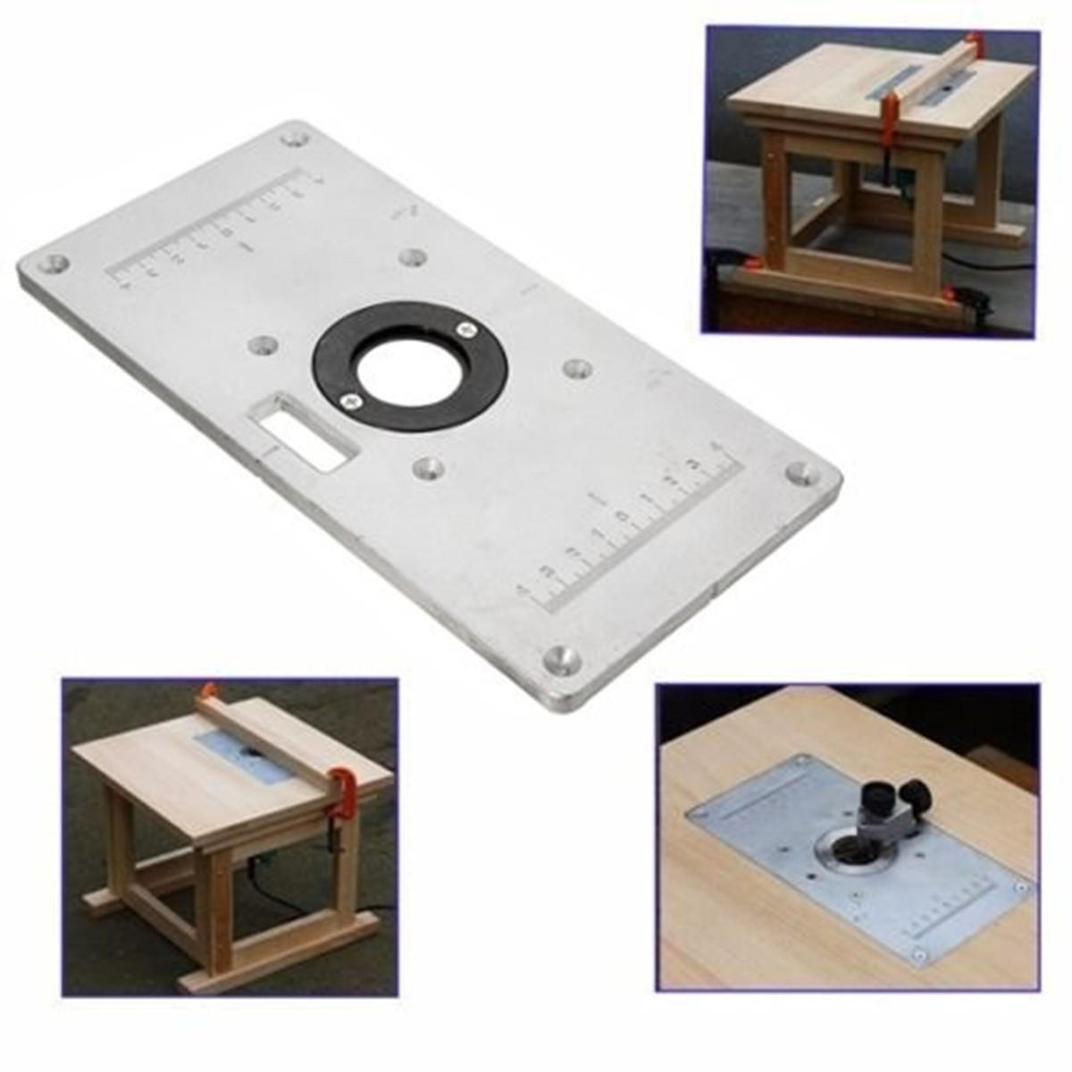 235mm X 120mm X 8mm Aluminum Router Table Insert Plate For Wood Working Benches