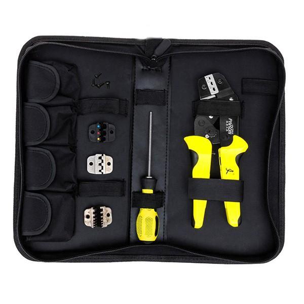 Paron® JX-D4 Multifunzionale Ratchet Attrezzo di Piegatura 26-10 AWG Kit Pinze Terminali
