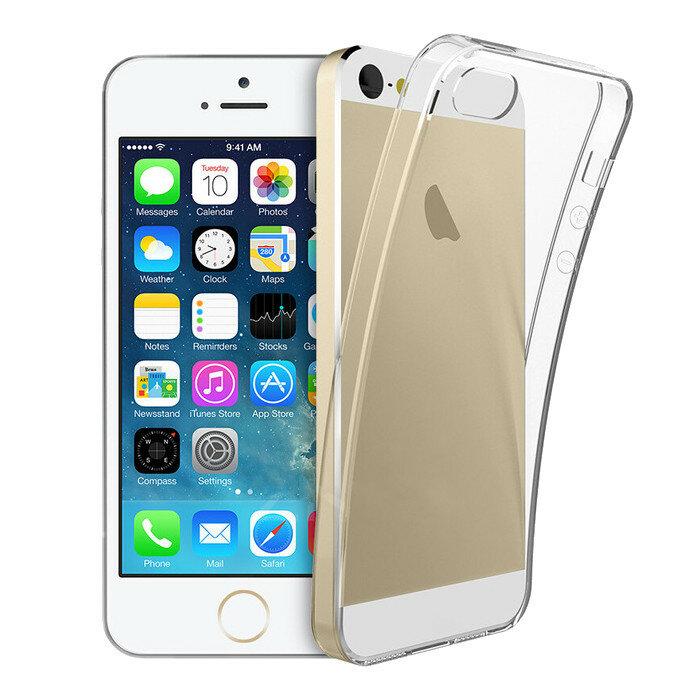Ultra Tynn Klar Transparent Støtfast Soft TPU Veske til iPhone 5 5S SE