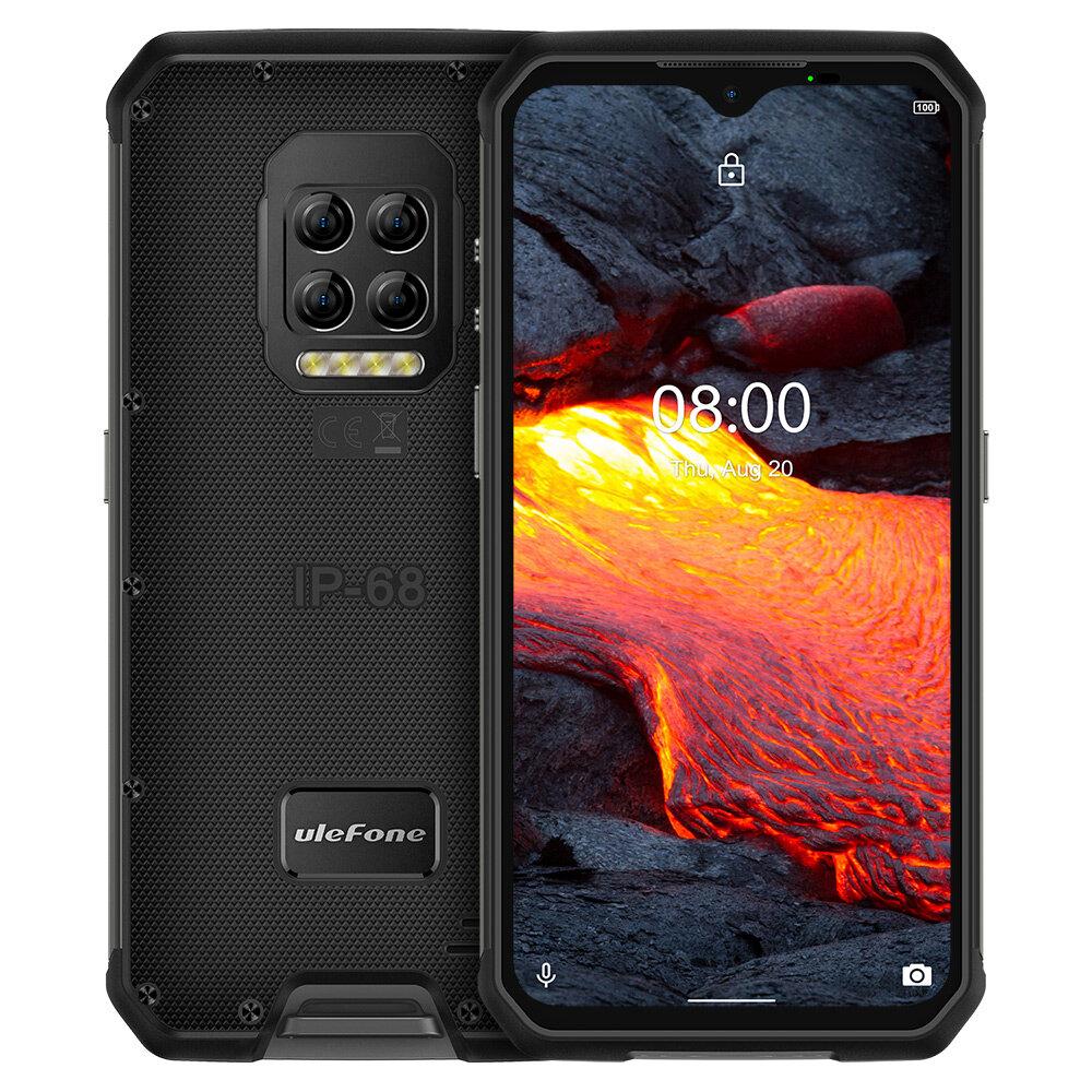 Ulefone Armor 9E IP68 IP69K Waterproof 6.3 inch 8GB 128GB 64MP Quad Camera NFC 6600mAh Helio P90 Octa Core 4G Rugged Sma