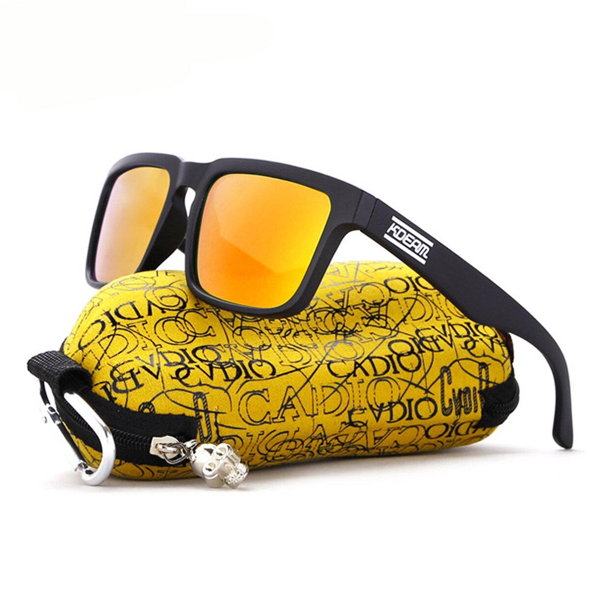 Gafas de Sol Polarizadas KDEAM KD901P-C10 para Hombres Gafas de Sol de Bicicleta Pesca Ciclismo Conducción Motocicleta al Aire Libre