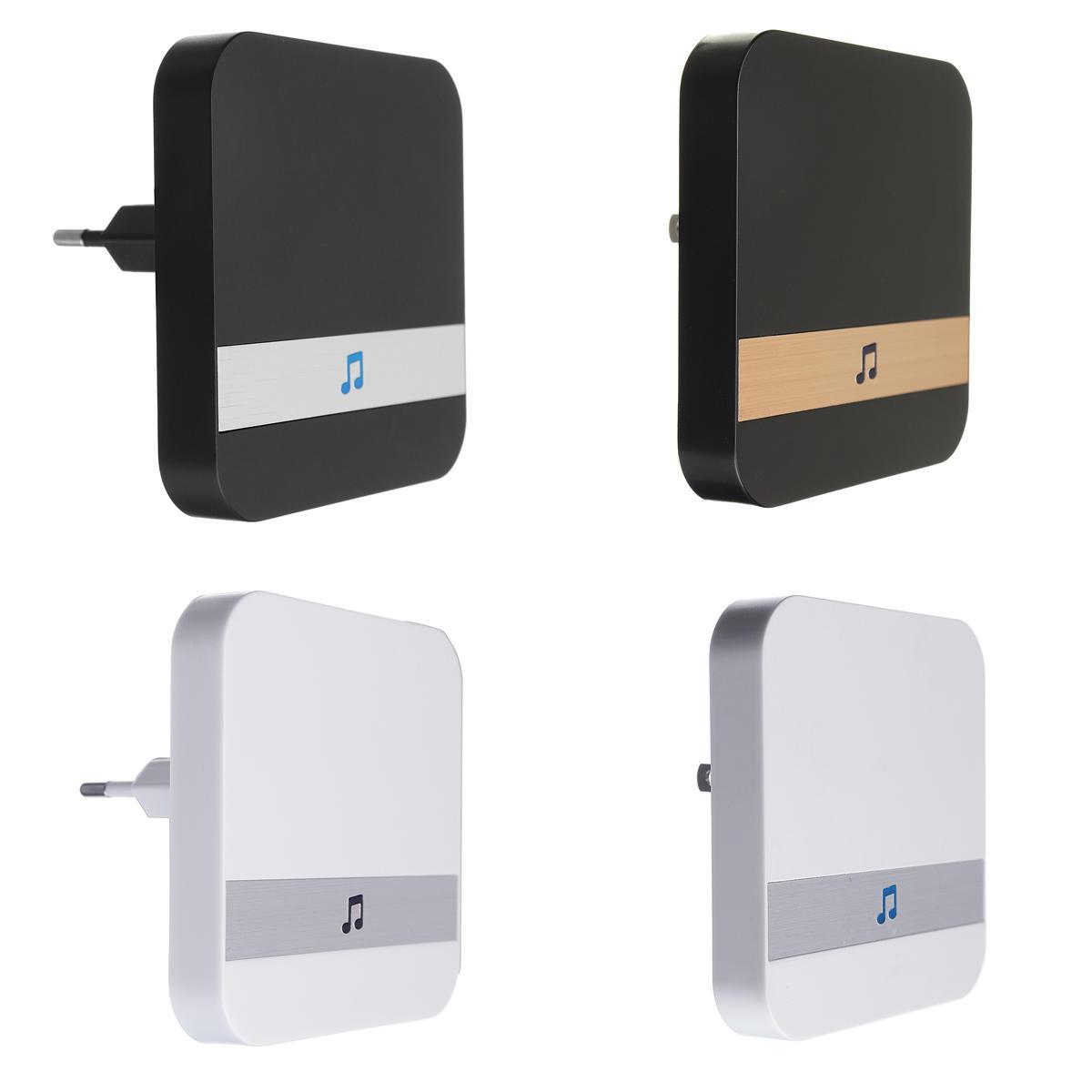 33MHz Indoor Receiver Black&White Music Doorbell Receiver for Home Alarm