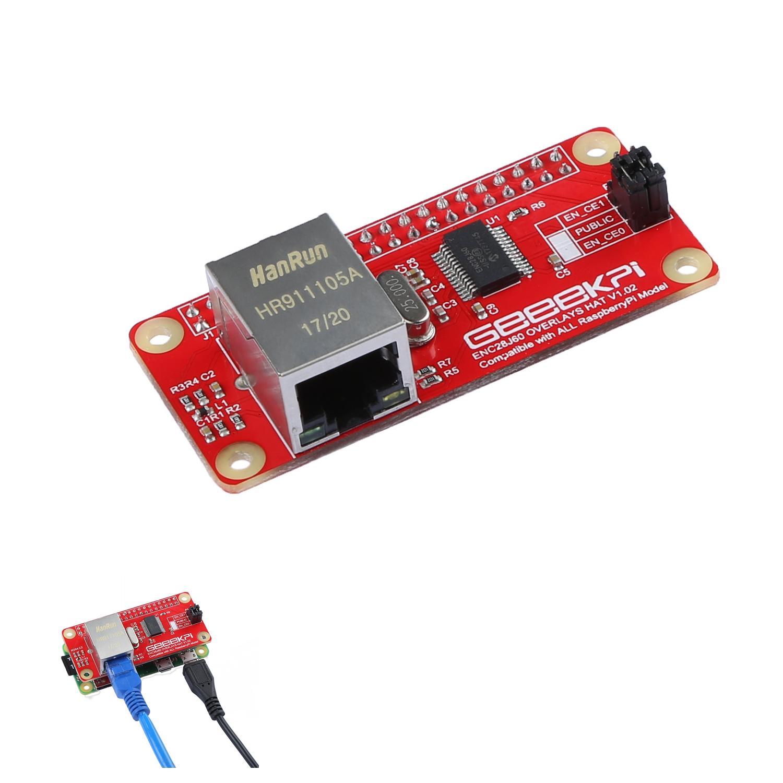 Enc28j60 Network Adapter Module For Raspberry Pi Zero