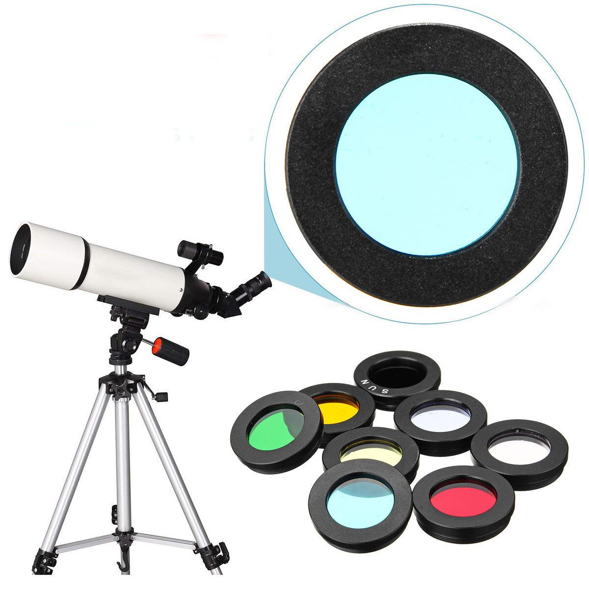 8 Pz / set 1,25 pollici lente Kit Filtro Nebulosa Filtro Luna Filtro Sole Per Telescopio Oculare Accessori