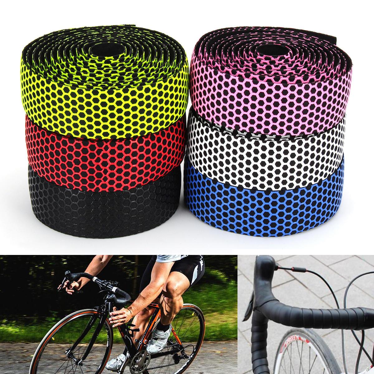 Handlebar Tape Bicycle Road Bike Sport Cork Grip Wrap Ribbon Tape Bar Plug Kit