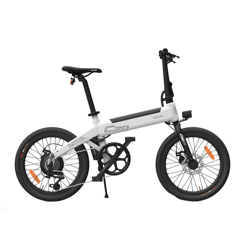 [EU Direct] HIMO C20 36V 10Ah 250W Brushless Motor 20 Inch Foldable Electric Moped Bicycle 100kg Max Load 23.7km/h Max 80km Mileage Electric Bike EU Plug With Air Pump From Xiaomi Youpin