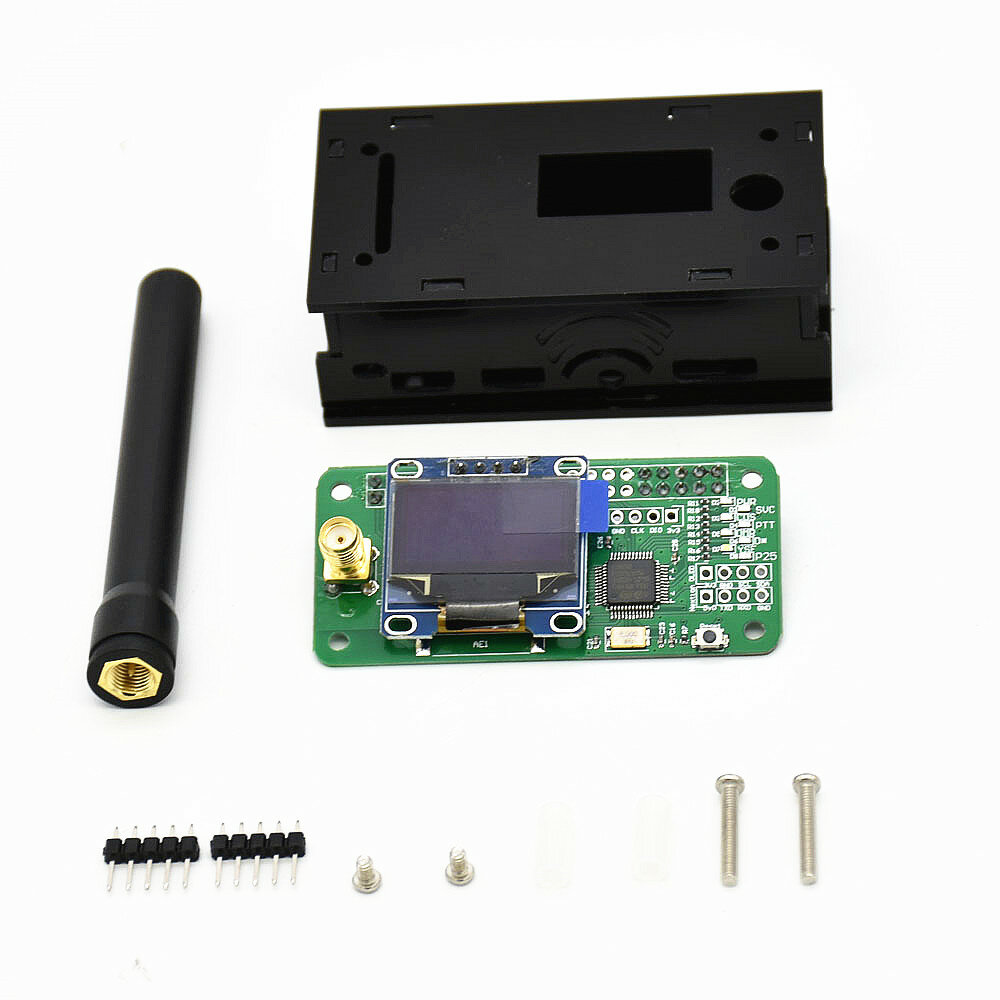 OLED MMDVM Hotspot Support P25 DMR YSF for Raspberry pi+Antenna Case