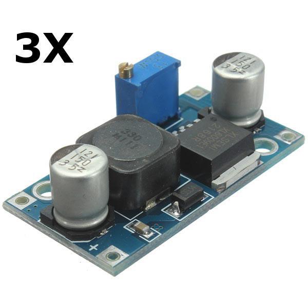 Arduino 3Pcs Adjustable XL6009 Step Up Boost Voltage Power Supply Module Converter Regulator фото