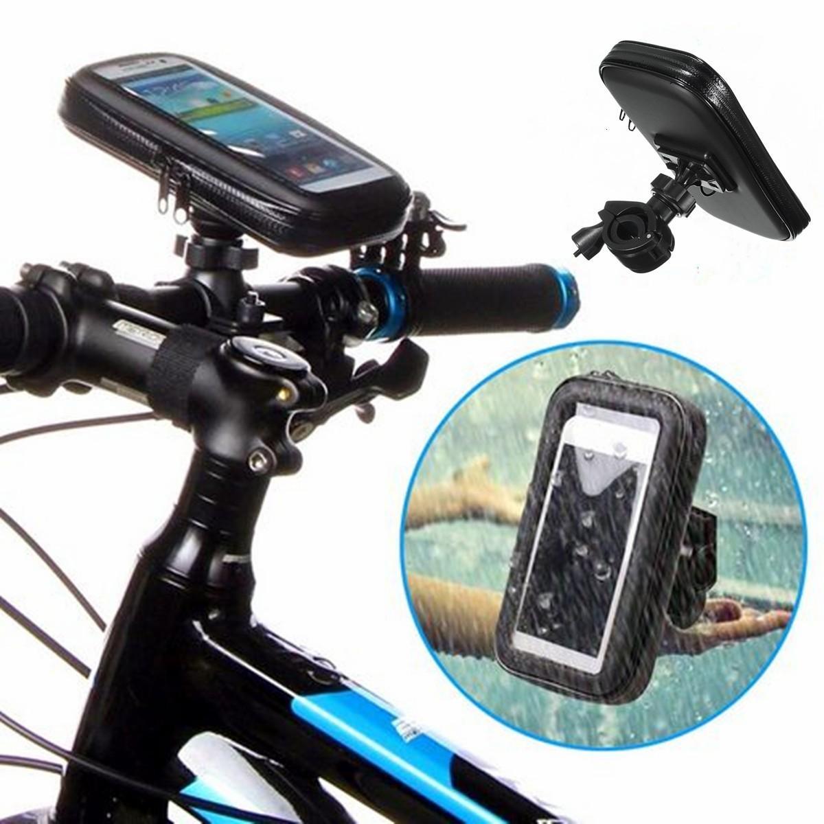 Bicycle Phone Mount >> Universal Waterproof Motor Bike Motorcycle Case Bike Bag Phone Mount