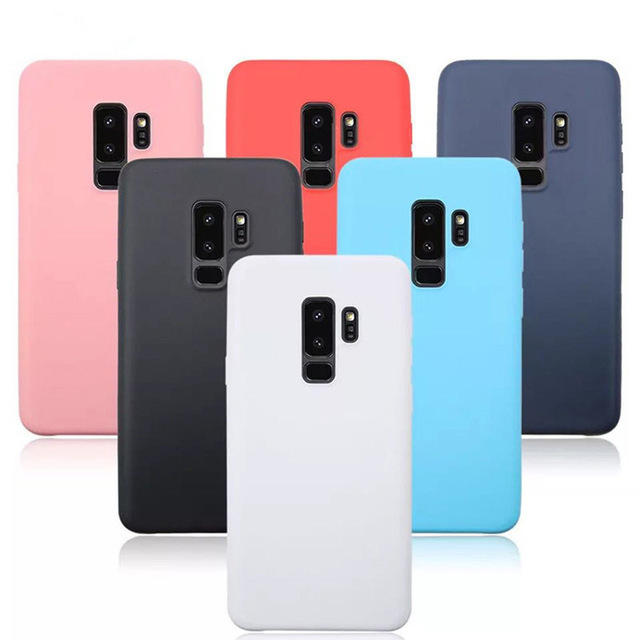 Bakeey Candy Color Matte Soft TPU Protective Case for Samsung Galaxy S9 Plus