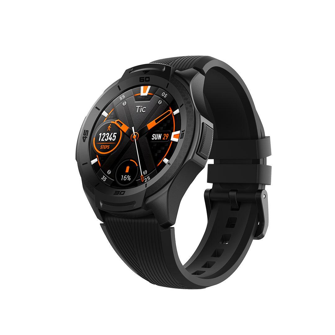TicWatch S2 1.39 pulgadas AMOLED Full Touch 512MB + 4GB 5ATM Impermeable 24h Corazón Tarifa Monitor US militar Reconocimiento 810G estándar al aire libre Reloj inteligente