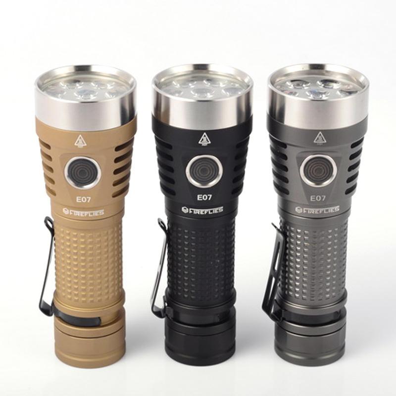 Fireflies E07 7 x Nichia/ XPL/ SST20 6900Lumens Brightness Easy Operation EDC LED Flashlight