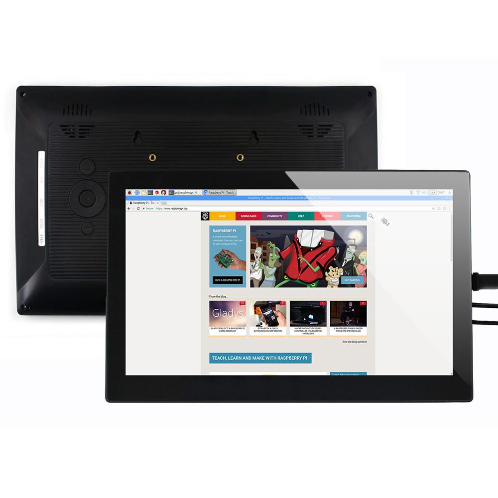 Wareshare® 13.3 Inch Layar HDMI VGA HD dengan Layar Sentuh Kapasitif Kaca Tempered 1920x1080 untuk NVIDIA Jetson Nano Raspberry Pi