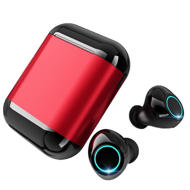 Dual bluetooth 5.0 TWS In-ear Earbuds Smart Touch Waterproof HIFI Stereo Earphone With Portable Charging Box