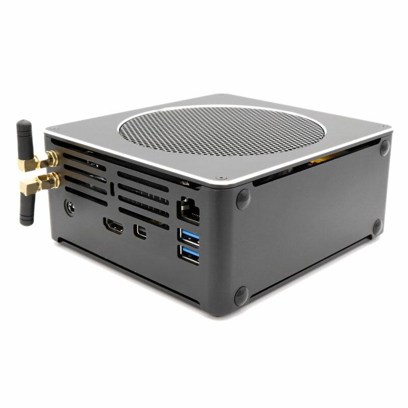 HYSTOU S200 Mini PC i7 8750H 8 Gen 8GB+128GB/8GB+256GB Quad Core Win10 DDR4 Intel UHD Graphics 630 4.1GHz Mini Desktop PC SATA mSATA MIC VGA 4K HDMI