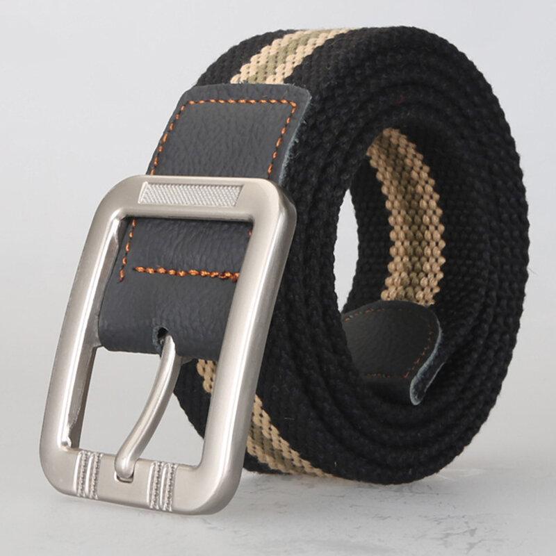 KALOAD P8 125cm 3.8cm Unisex Casual Belts + Outdoor Sport Tactical Belt Pin Buckle Canvas Waist Belt For Women Man