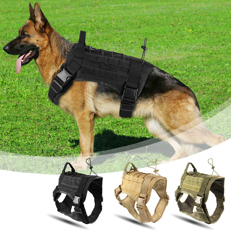 Tactical Outdoorr Military Hunting Dog Clothes Load Bearing Training Vest Harnes