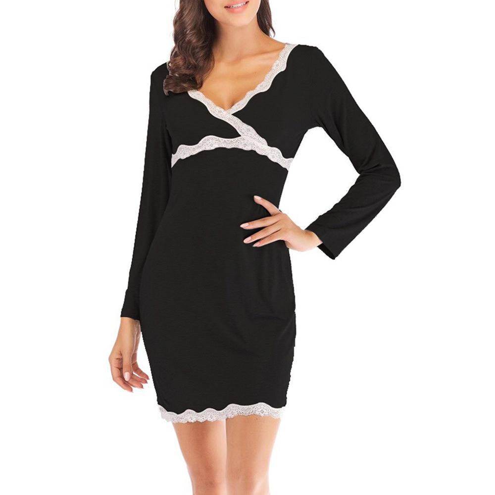 Long Sleeve Skin-friendly Modal  Comfort Nightgown