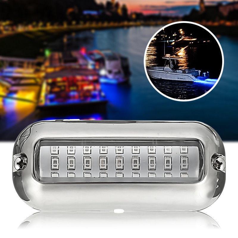 12V 50W 27LED 316 Stainless Steel Boat Transom Lamp Underwater Pontoon Marine Lights For Boat