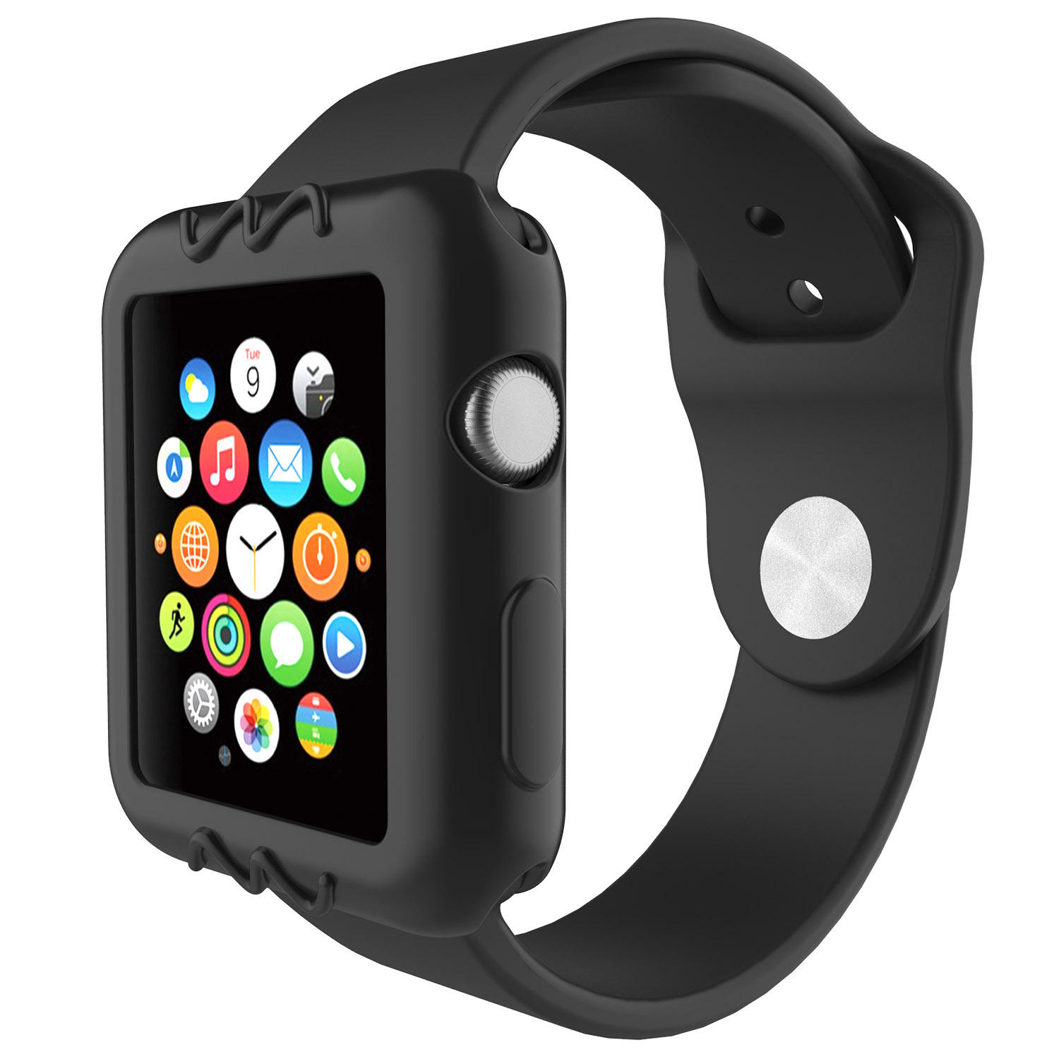 low priced 162d3 54d58 Universal Silicone Scratch Resistant Protective Watch Case For Apple Watch  Series 1/2/3 38mm/42mm