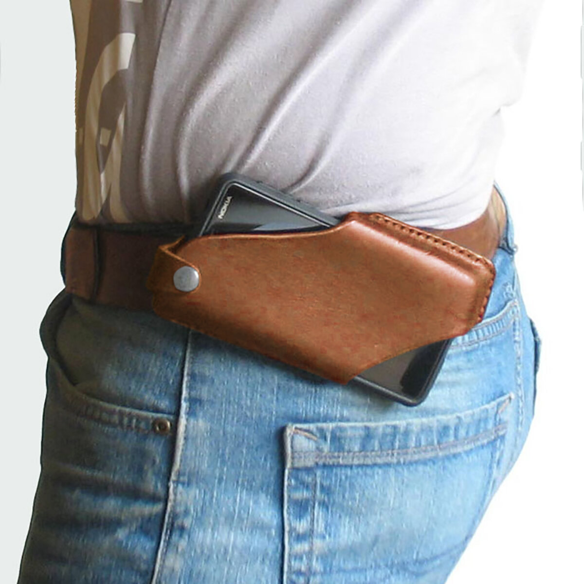 Homens Couro Genuíno 4.7inch ~ 6.5 polegadas Phone Bolsa Cintura Bolsa Fácil de transportar EDC Bolsa Para Outdoor