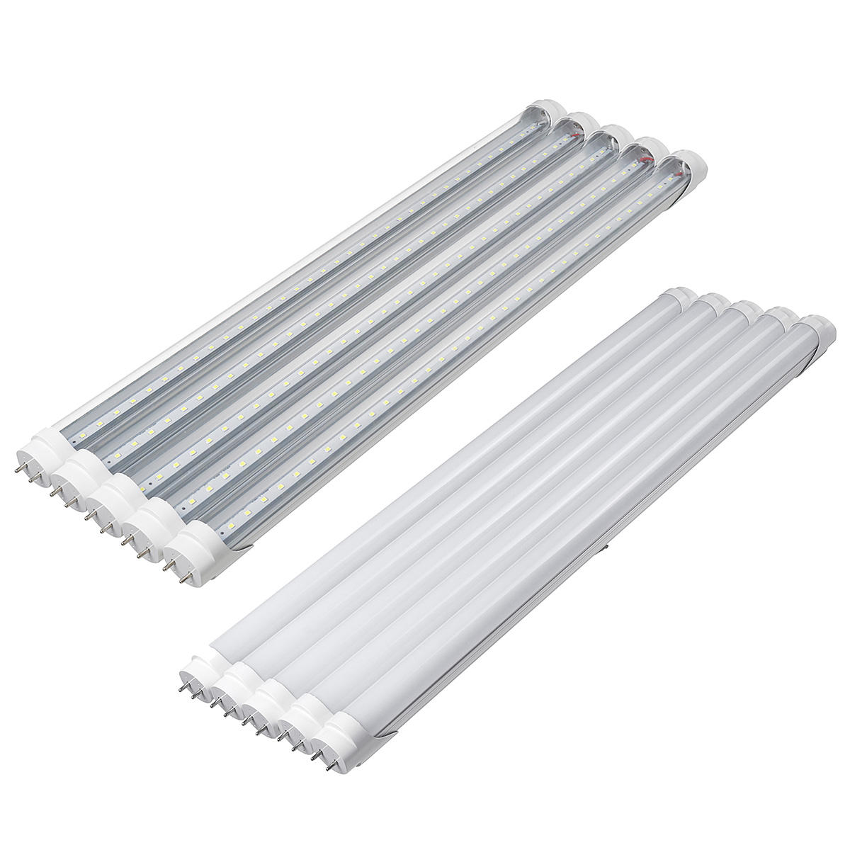 5PCS AC85-265V 50cm T8 G13 8W SMD2835 Fluorescent Bulbs 36 LED Tube Light for Indoor Home
