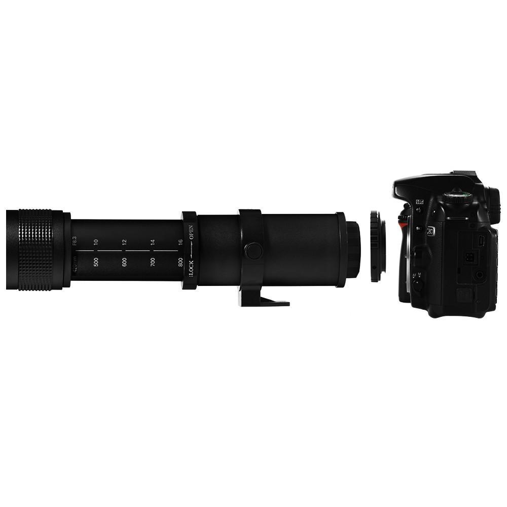 Lightdow T2 untuk NEX / AF / PK / AI / EOS Lens Adapter untuk Lightdow 420-800mm Lensa Tele untuk Canon untuk Nikon untuk Sony untuk Pentax Kamera DSLR