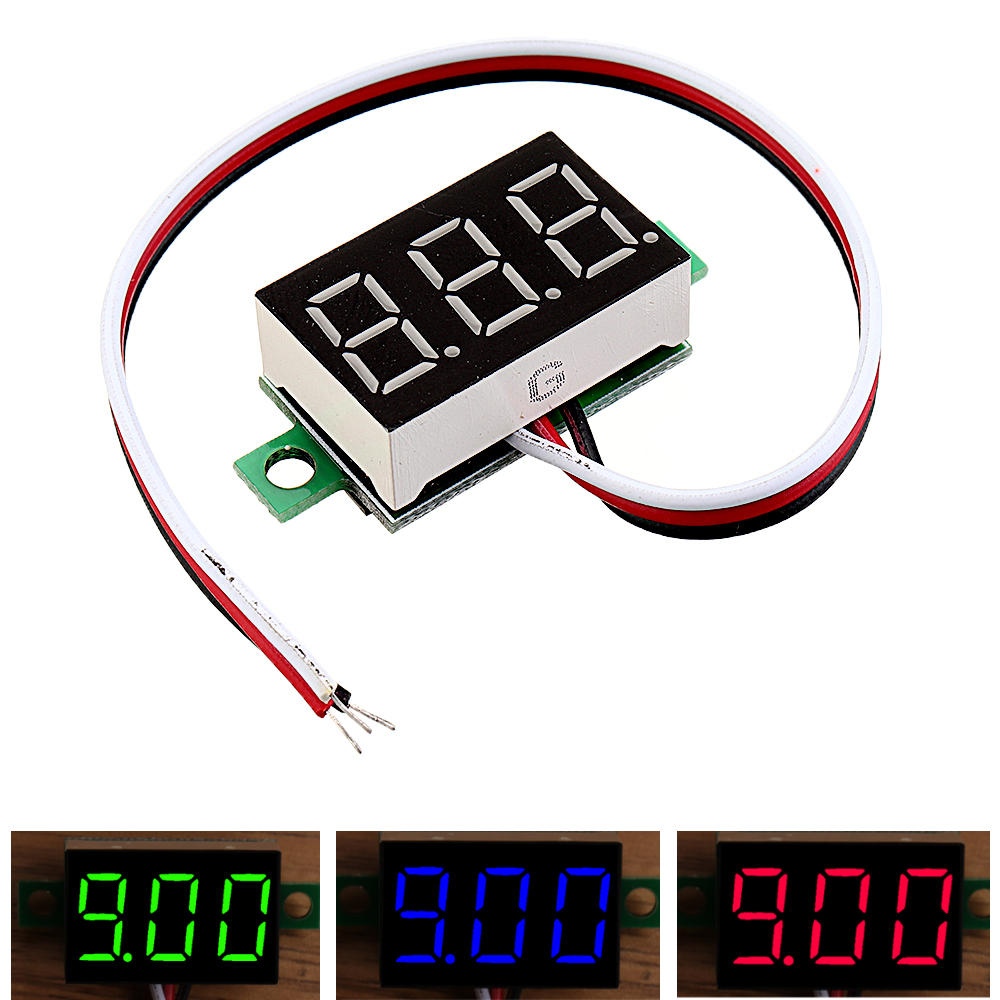 0.36 Inch DC0V-32V LED Digital Display Voltage Meter Voltmeter Reverse Connection Protection