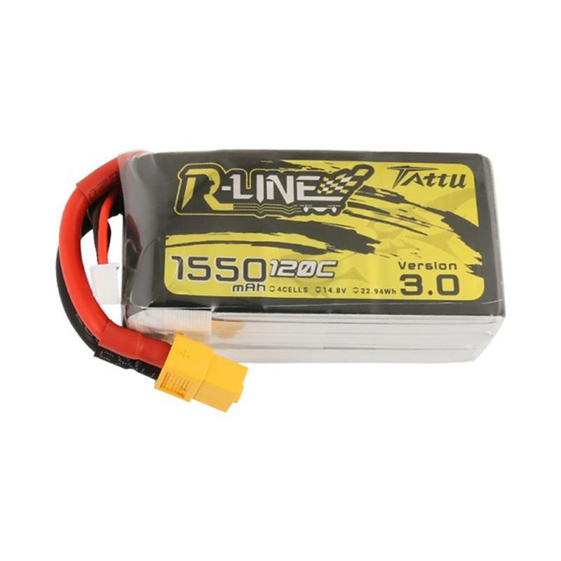 TATTU 14.8 V 1550 mAh 120C 4S Lipo Batarya FPV Yarış Drone için XT60 Fiş
